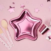Small Foil Star Paper Plates (8)